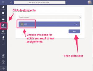 Assignments class chooser